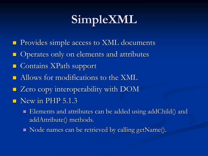SimpleXML