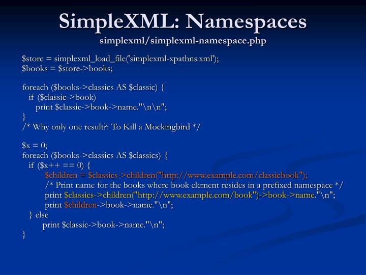 SimpleXML: Namespaces