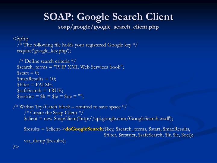 SOAP: Google Search Client