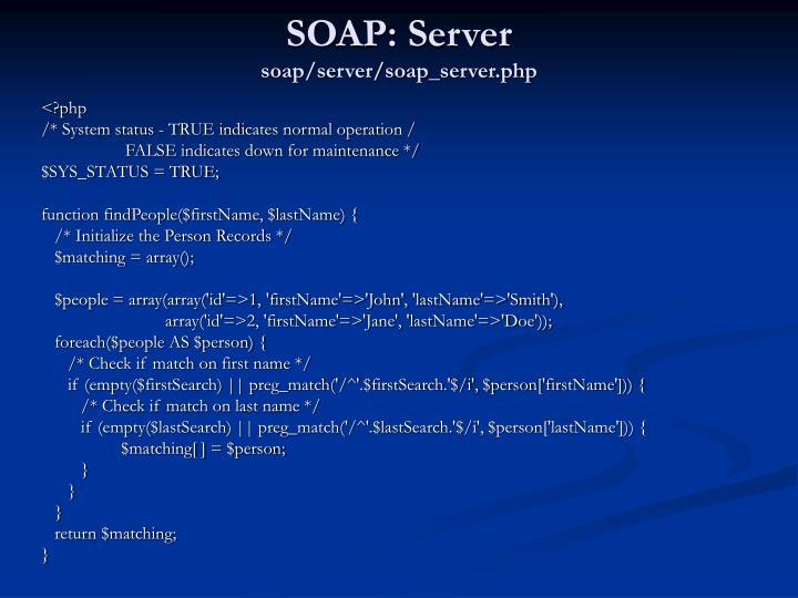 SOAP: Server