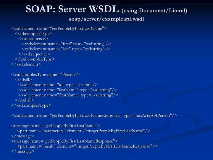 SOAP: Server WSDL