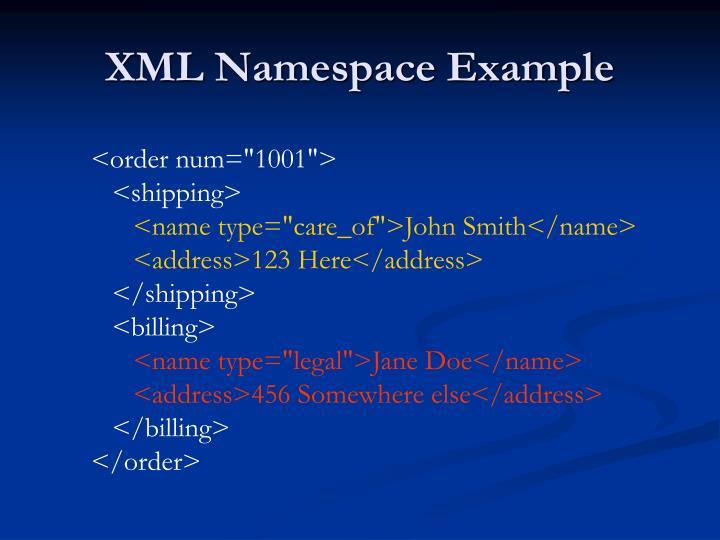 XML Namespace Example