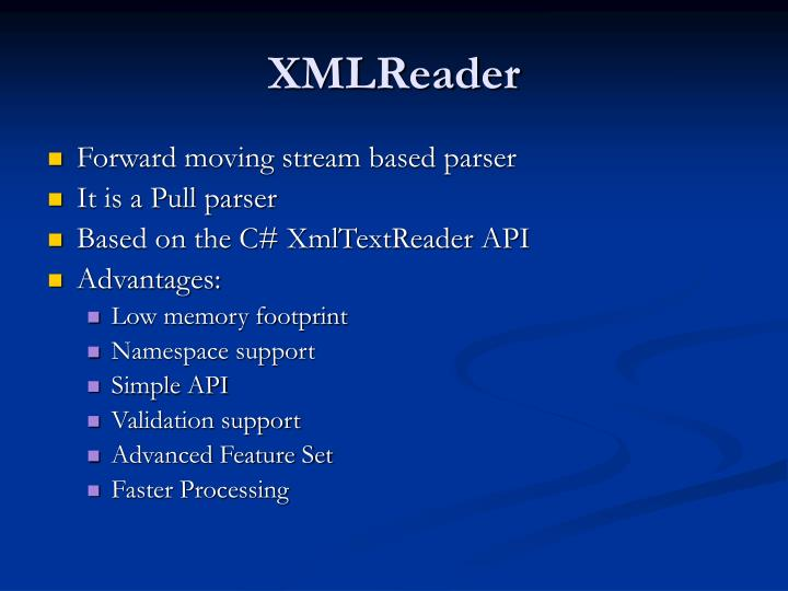 XMLReader