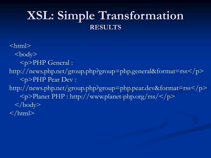 XSL: Simple Transformation