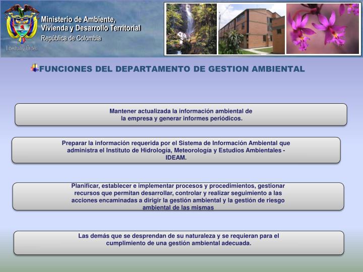 Mantener actualizada la información ambiental de
