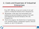 2 costs and expenses of industrial enterprises