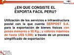 en que consiste el exporta f cil peru