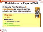 modalidades de exporta f cil