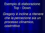 esempio di elaborazione top down