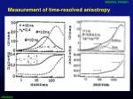 measurement of time resolved anisotropy2