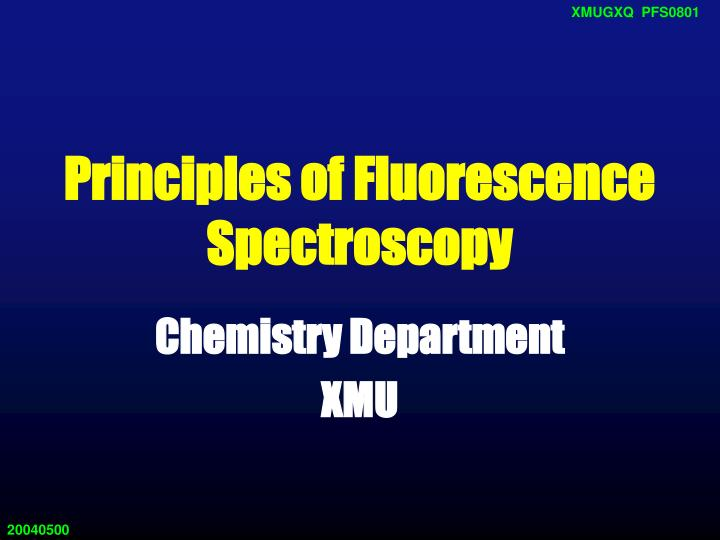 principles of fluorescence spectroscopy n.