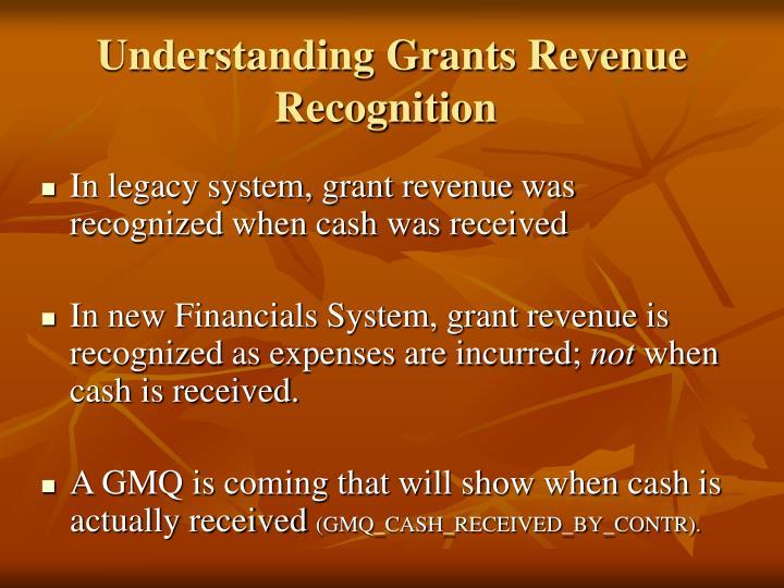Understanding Grants Revenue Recognition