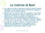la matrice di burt