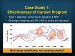 case study 1 effectiveness of current program