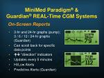 minimed paradigm guardian real time cgm systems