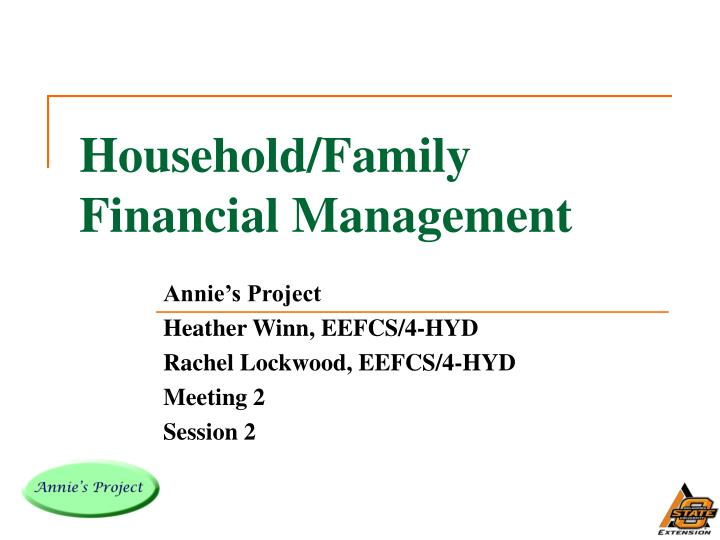 Household family financial management