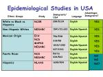 epidemiological studies in usa
