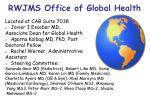 rwjms office of global health
