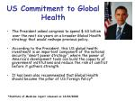 us commitment to global health