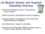 us medical schools and hospitals expanding overseas