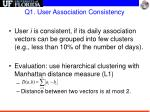 q1 user association consistency