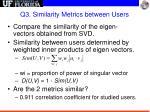 q3 similarity metrics between users1