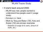 wlan traces study
