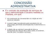 concess o administrativa