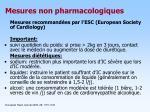 mesures non pharmacologiques