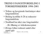 trend i fangstfordeling i torskefiskerier 1998 2001