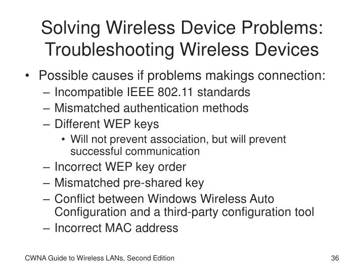 Solving Wireless Device Problems: Troubleshooting Wireless Devices