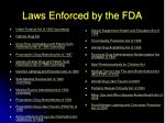 laws enforced by the fda