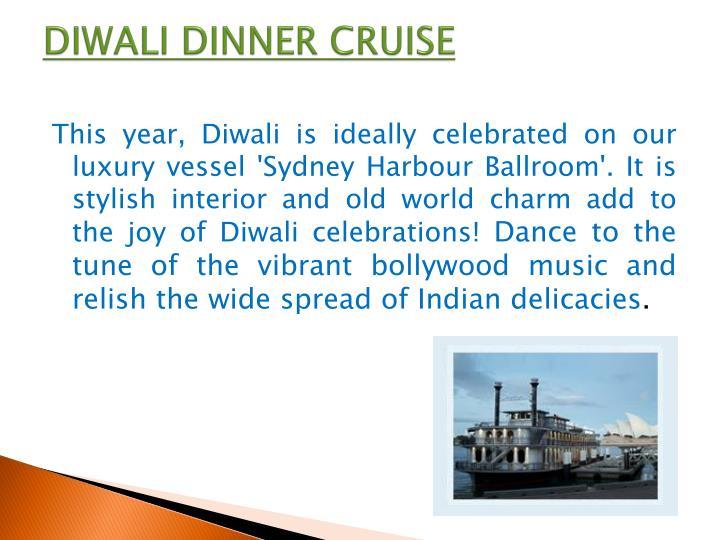 Diwali dinner cruise