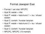 format jawapan esei