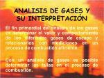 analisis de gases y su interpretaci n