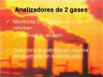 analizadores de 2 gases