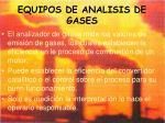 equipos de analisis de gases