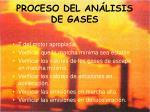 proceso del an lisis de gases