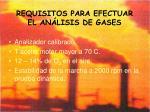 requisitos para efectuar el an lisis de gases