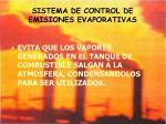 sistema de control de emisiones evaporativas