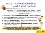 10 1 4 tic come strumento di produttivit individuale