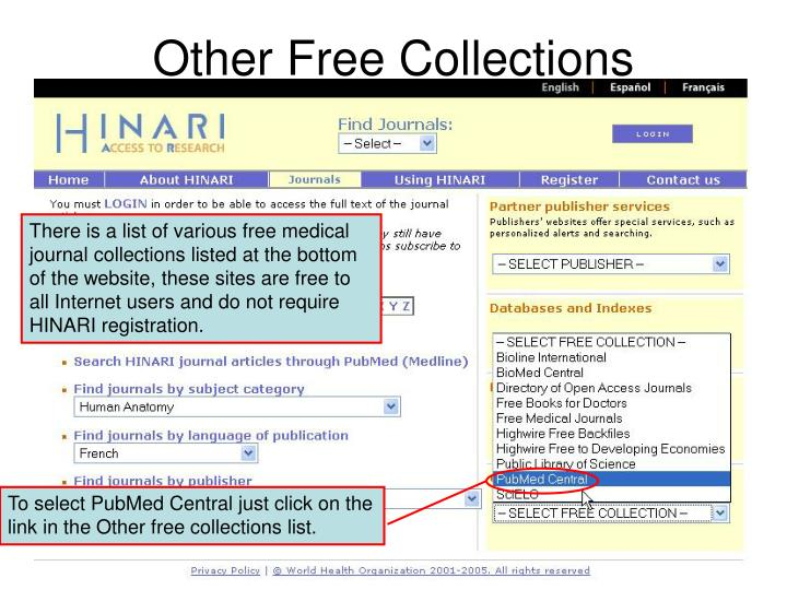 Other Free Collections