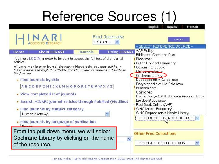 Reference Sources (1)