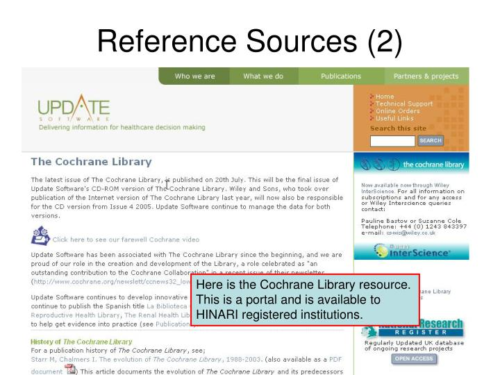 Reference Sources (2)
