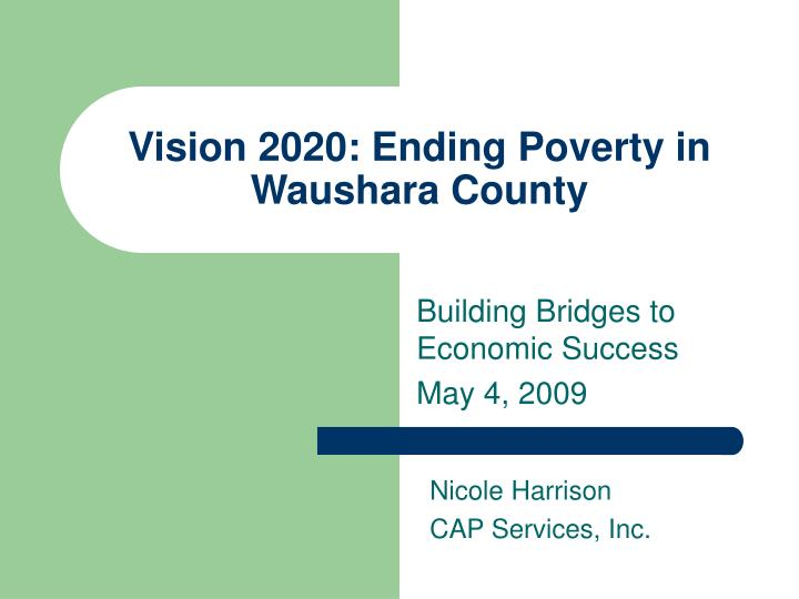 vision 2020 ending poverty in waushara county