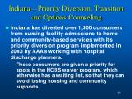 indiana priority diversion transition and options counseling