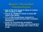michigan s nursing home transition program