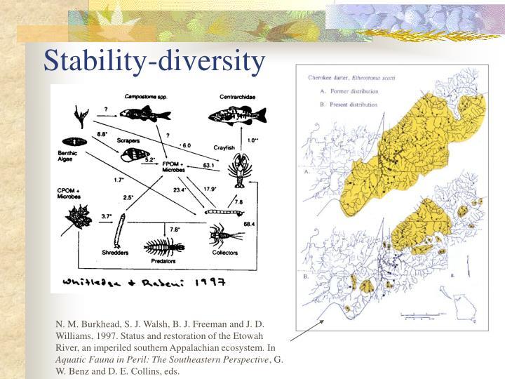 Stability-diversity