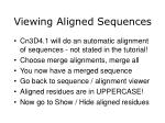viewing aligned sequences