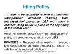idling policy